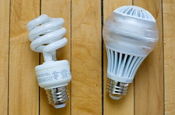 LED and CFL light bulbs
